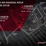 Audi R8 parāde Rīgas ielās 14.08.2016